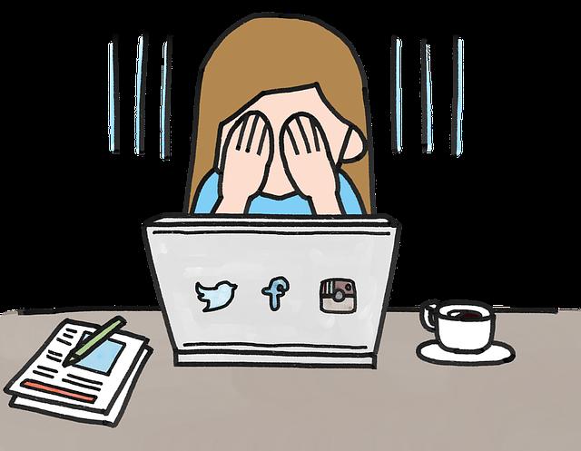 smutek na internetu