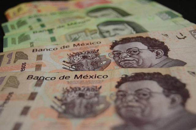 mexické bankovky