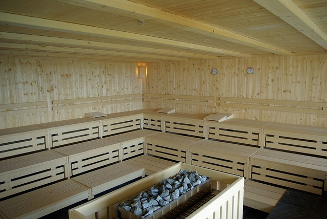 Interiér finské sauny
