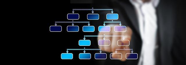 graf znázorňující vnitřní organizační strukturu