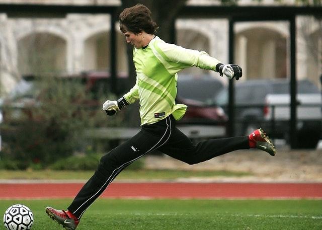 Hráč fotbalu při tréninku