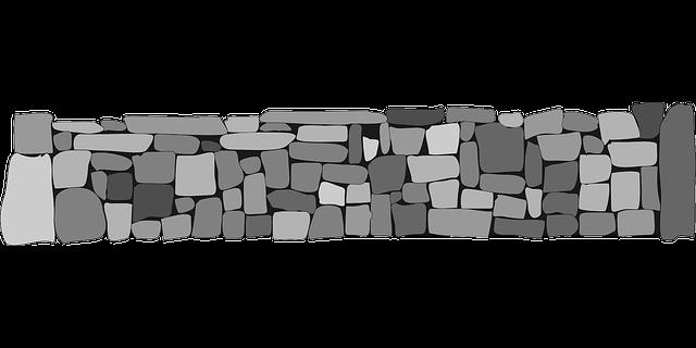 ilustrace jednoduchého betonového plotu